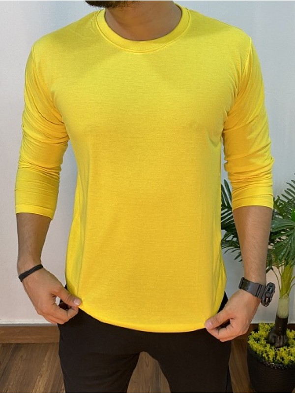 Basic Cotton Yellow FullSleeve Tshirt
