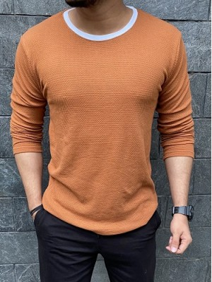 Roughneck Popcorn Orange Fullsleeves Tshirt