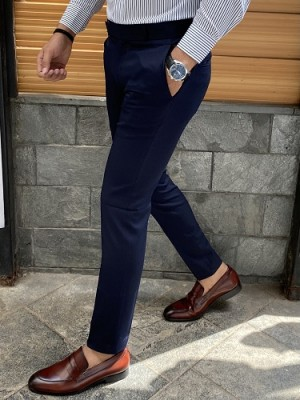 Ankle Formal Blue Trouser