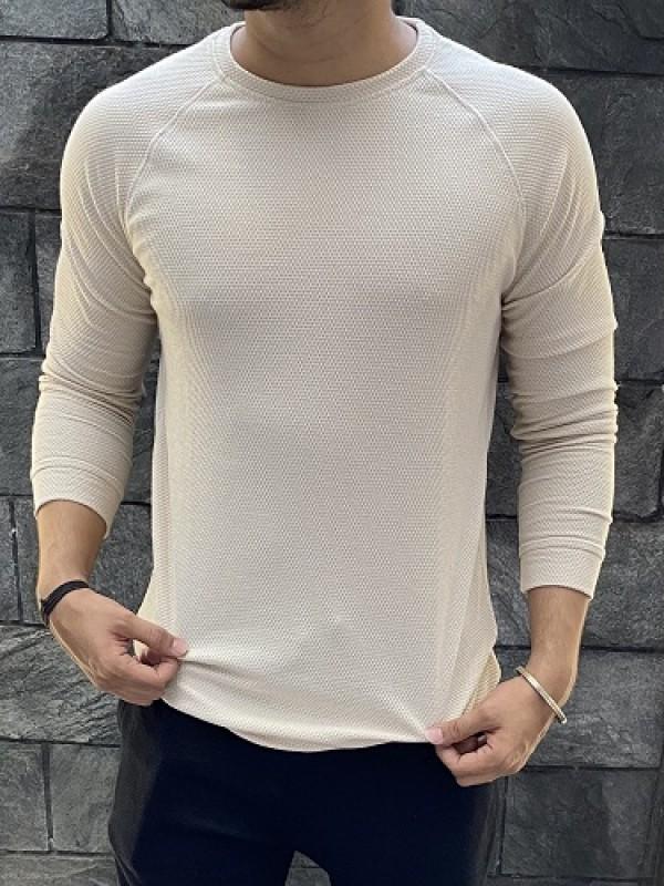 Raglan Style Fullsleeve Cream Popcorn Tshirt