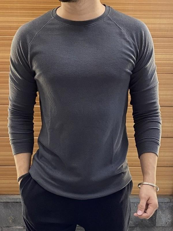 Raglan Style Fullsleeve Dark grey Popcorn Tshirt