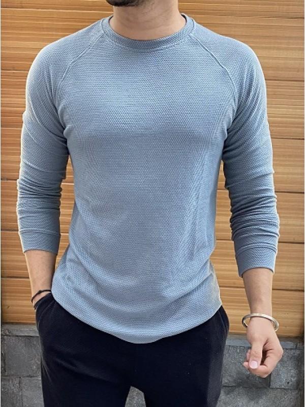 Raglan Style Fullsleeve Grey Popcorn Tshirt