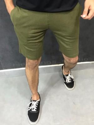 Waffle Olive Green Shorts