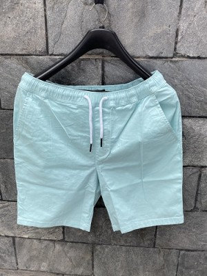 Elastic Waist Cotton Mint Short